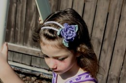 Double Strand Headband with Roses and Leaves