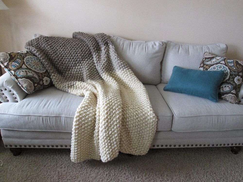 Simple Seeds Blanket Knitting Pattern By Hope Vickman