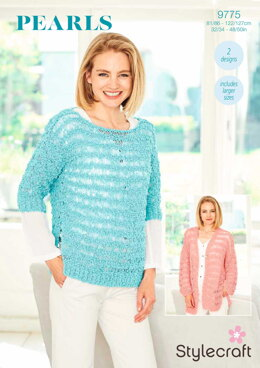 Sweater and Cardigan in Stylecraft Pearls - 9775 - Downloadable PDF
