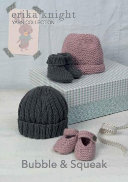 Bubble & Squeak Hat and Shoes in Erika Knight Gossypium Cotton