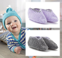 Baby Smiles Booties in Patons Fairytale Soft DK