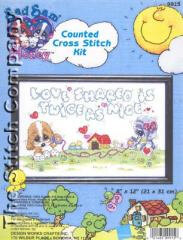 Design Works Shared Love Counted Cross Stitch Kit - 21cm x 31cm