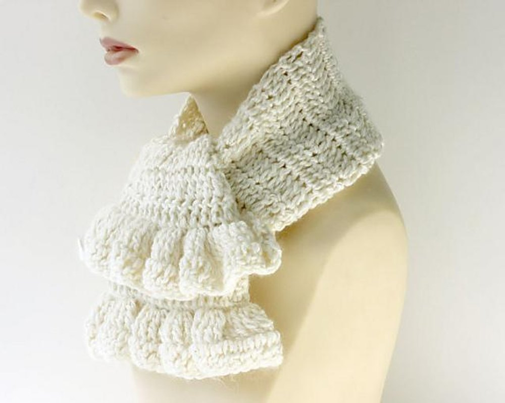 Crochet Ruffle Scarf or Neck Warmer Crochet pattern by Judith Stalus