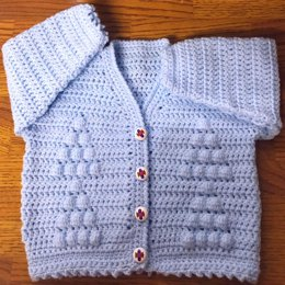 Baby Crochet Cardigan Pattern in DK (Sizes: 3 Months - 6 Years) (1018)