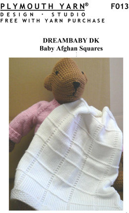 Baby Afghan Squares in Plymouth Yarn Dreambaby DK - F013 - Downloadable PDF