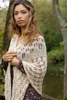 Clew Shawl in Berroco Quinoa - 395-1 - Downloadable PDF