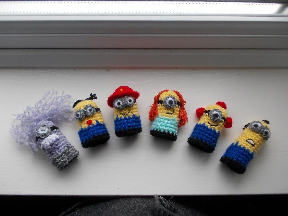 Minion Finger Puppets Crochet Pattern By Kippers Ning Crochet