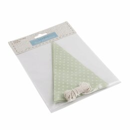 GrovesTrim Collection Make-Your-Own Bunting Kit: Green with White SpotEmboideryKit