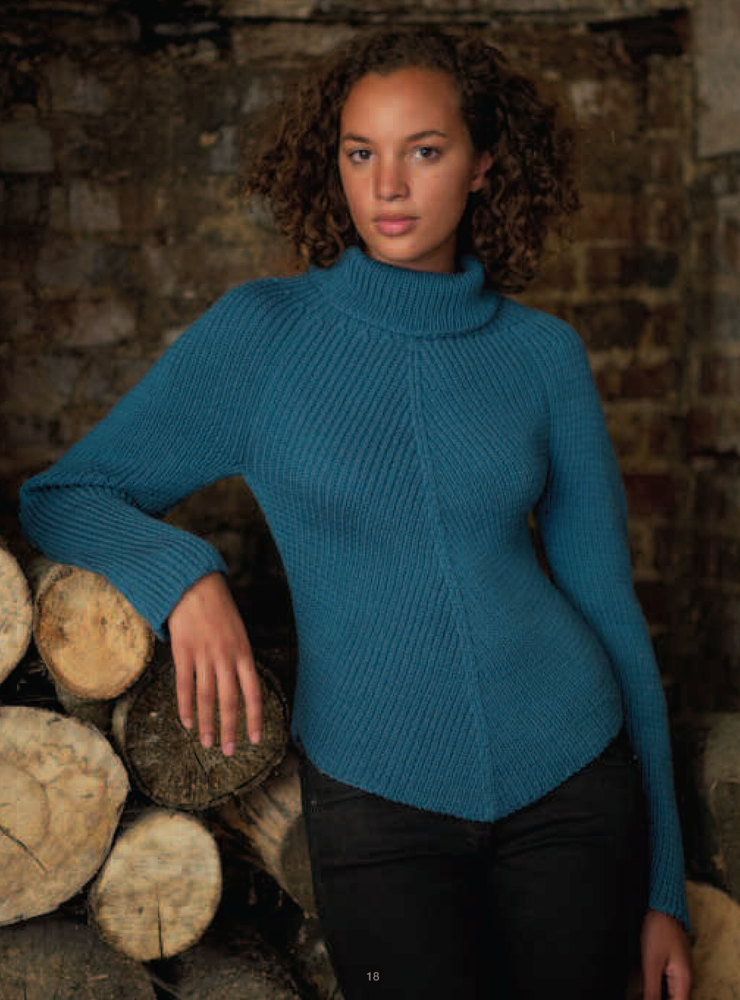 Shaped Edge Sweater In Debbie Bliss Cashmerino Aran
