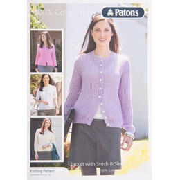 Jacket in Patons 100% Cotton 4 Ply - Leaflet
