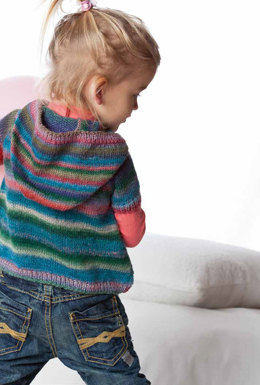 Wickeljacke Mit Kapuze in Lang Yarns Mille Colori Baby - Downloadable PDF