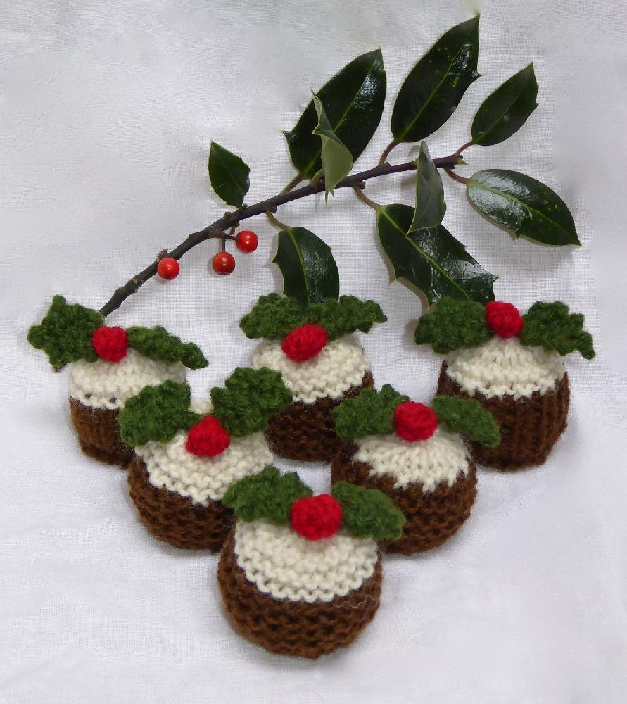 Knitting Pattern Christmas Pudding Ferrero Rocher : Christmas Pudding Ferrero Rocher Cosies Knitting pattern by Tess Young