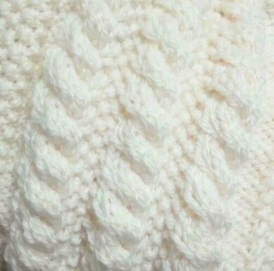 Easy Chunky Cable Scarf In Aran Knitting Pattern By Caroline Williams