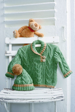Sweater and Hat with Cable Pattern in Schachenmayr Bravo Baby - S8653
