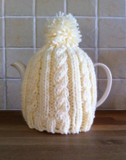 Tea cosy knitting patterns loveknitting easy cable tea cosy dt1010fo