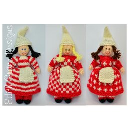 Scandinavian Elf Dolls Knitting Pattern