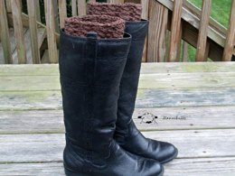 Mock Cable Boot Cuffs