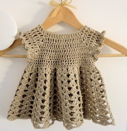 Easy Crochet Girl Dress (6 months - 8 years)