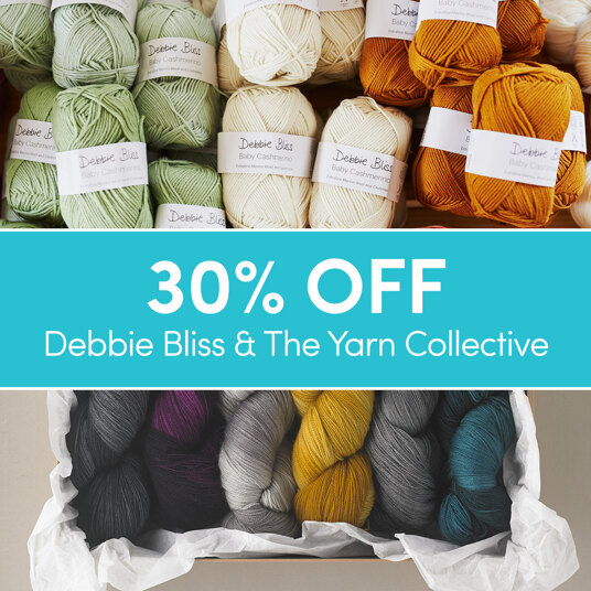 30 percent off Debbie Bliss & The Yarn Collective!