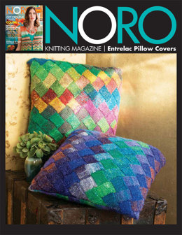 Entrelac Pillow Covers in Noro Silk Garden Lite - 16 - Downloadable PDF