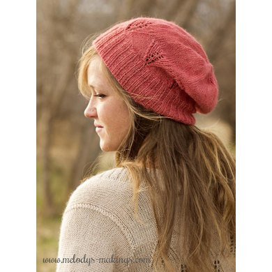Wisteria Slouch Hat ~ Knit Version