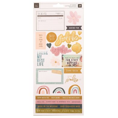American Crafts Heidi Swapp - Care Free Cardstock Stickers 48/Pkg