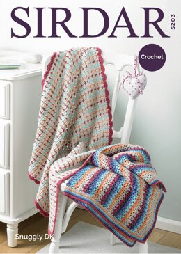 Blankets in Sirdar Snuggly DK - 5203 - Downloadable PDF