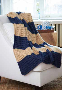 Easy Breezy Knit Afghan in Caron Simply Soft - Downloadable PDF