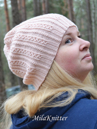 04fc76ead1c Tiny Cables Hat and Scarf knitting project by MilaKnitter