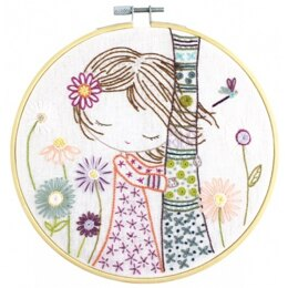 Un Chat Dans L'Aiguille When Salomé Recharges Embroidery Kit  - Sold Without Hoop