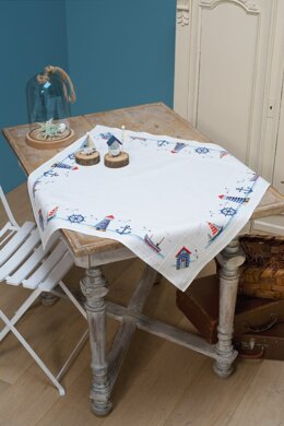 Vervaco Maritime Tablecloth Cross Stitch Kit - 80cm x 80cm