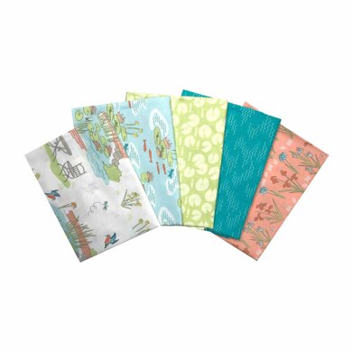 Craft Cotton Company Lily Pad Fat Quarter Bundle - Pack A