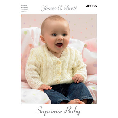 Cardigans and Slipover in James C. Brett Supreme Baby DK - JB035