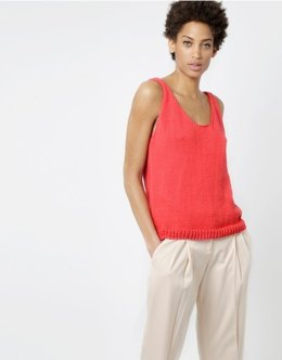 Farrah Top in Wool and the Gang Shiny Happy Cotton - Leaflet