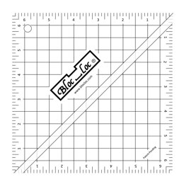Bloc Loc Half Triangle Ruler 6.5""