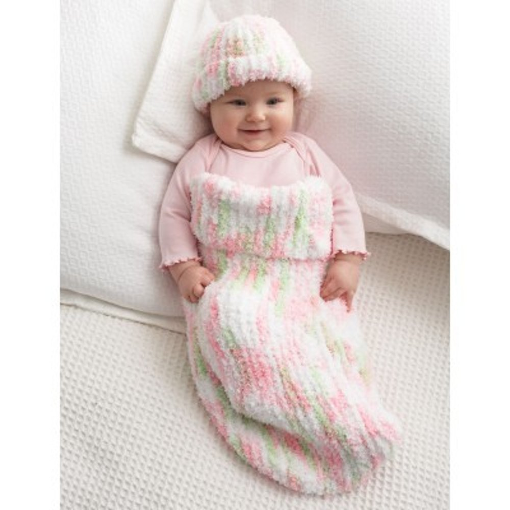 Knit Baby Cocoon in Bernat Pipsqueak | Knitting Patterns | LoveKnitting