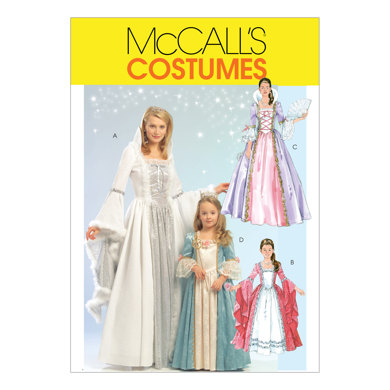 McCall's Misses'/Children's/Girls' Princess Costumes M5731 - Sewing Pattern