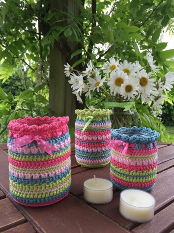 Summer Nightlight Jars Crochet Kit