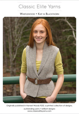 14a084a32 Whistlewood Vest in Classic Elite Yarns MountainTop Blackthorn -  Downloadable PDF