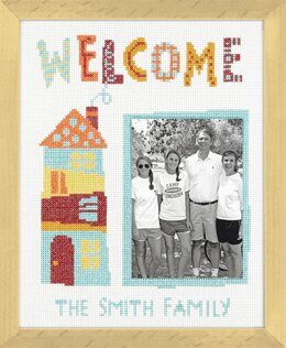 Dimensions Counted Cross Stitch Kit: Welcome Home - 20.3 x 25.4cm