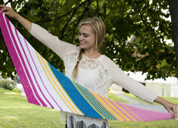 Diagonal Striped Scarf in Plymouth Yarn Cleo - F668 - Downloadable PDF