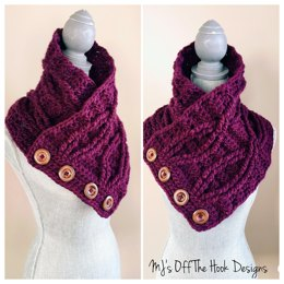 Twisted Button Up Bulky Cowl