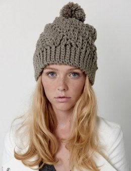 Stepping Texture Hat in Bernat Softee Chunky - Downloadable PDF