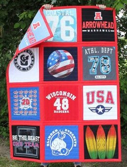 June Tailor Inc Reversible T-Shirt Quilt Kit Sash-In-A-Dash - Red