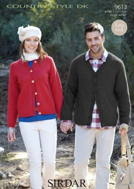 Cardigans in Sirdar Country Style DK - 9613