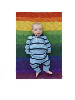 Checkered Baby Afghan in Lion Brand Mandala Baby - Downloadable PDF