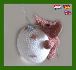 "Christmas bauble ""Pink Elephant"""