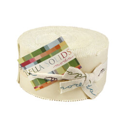 Moda Fabrics Bella Solids 2.5in Strip Roll - Natural