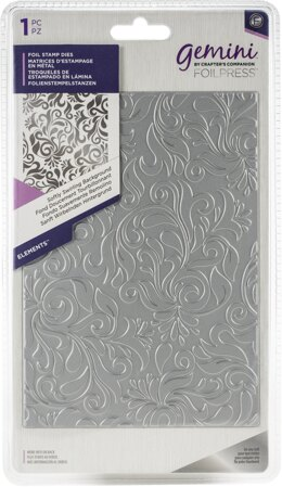 Crafter's Companion Gemini Foilpress Stamp Die Elements - Softly Swirling Background