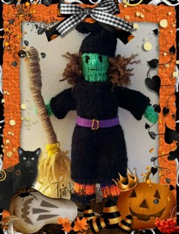 Wicked Witch knitted doll pattern, perfect gift for Halloween or Christmas!